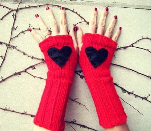 دستکش بافتنی کوتاه