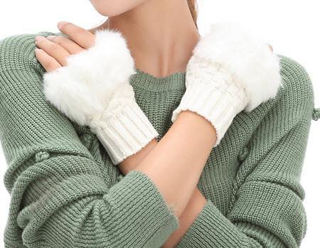 مدل دستکش بافتنی دخترانه