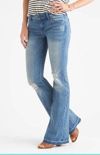 شلوار جین دم پا زنانه