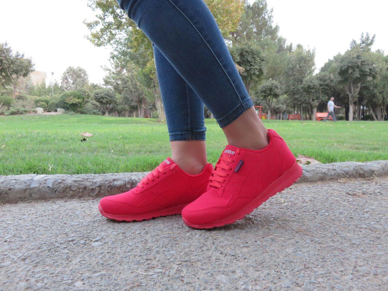 مدل کتانی قرمز دخترانه