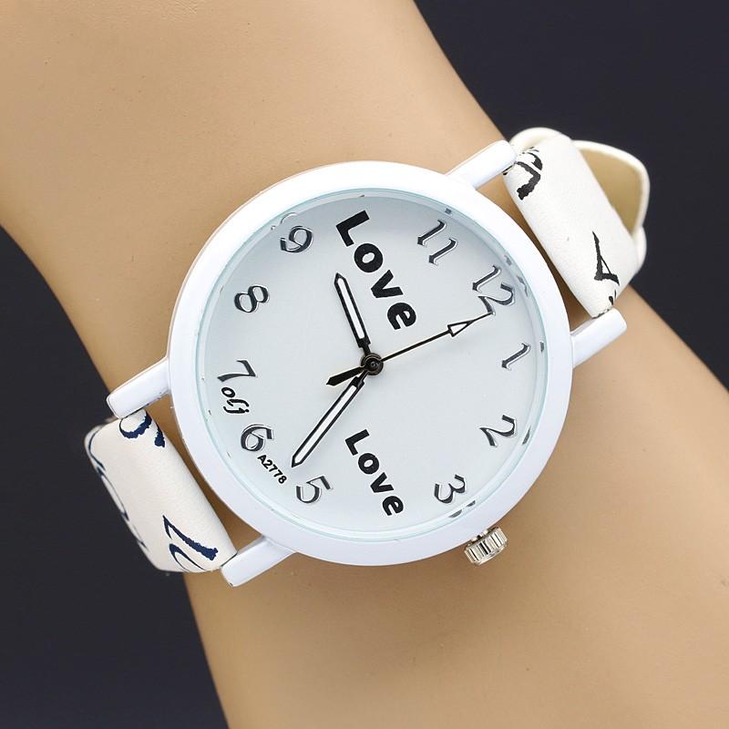 ساعت سفید دخترانه
