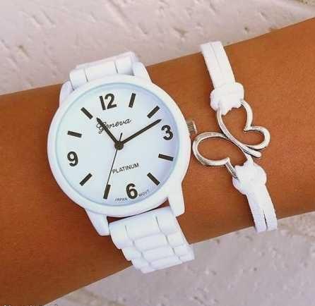 ساعت سفید زنانه