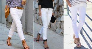 عکس مدل شلوار سفید رنگ زنانه