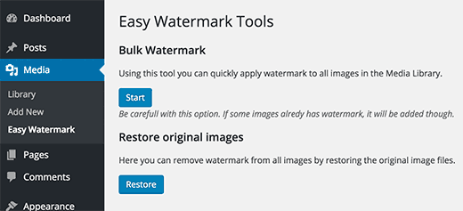 اضافه کردن واترمارک به عکس های قدیمی تر در وردپرس