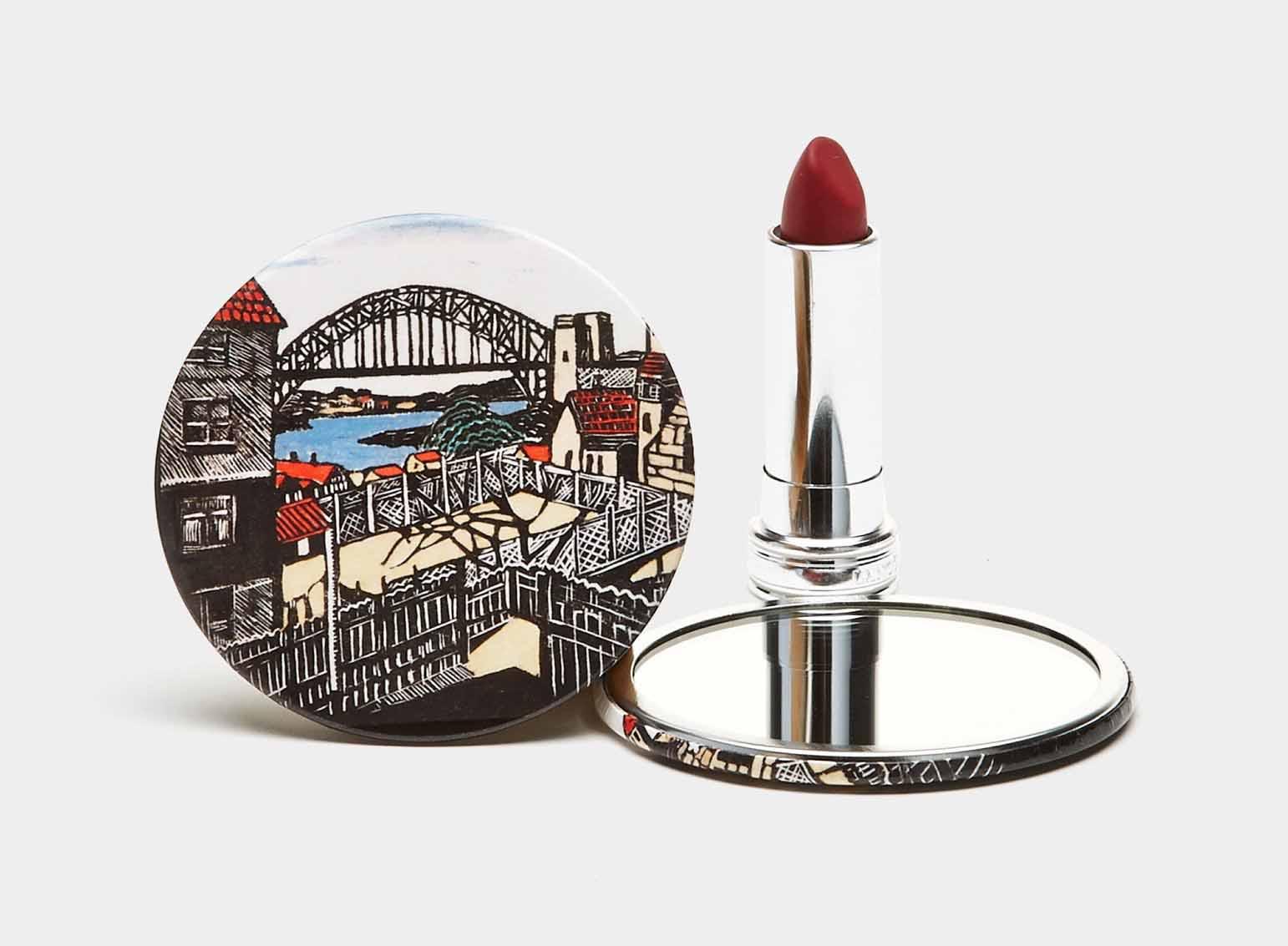 آینه جیبی فلزی
