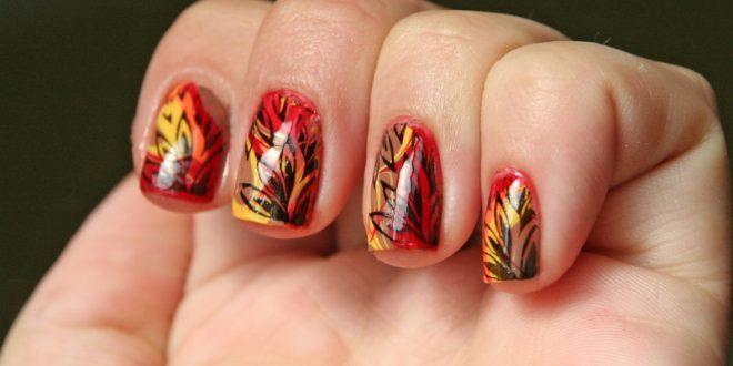 جدیدترین دیزاین پاییزی ناخن ها