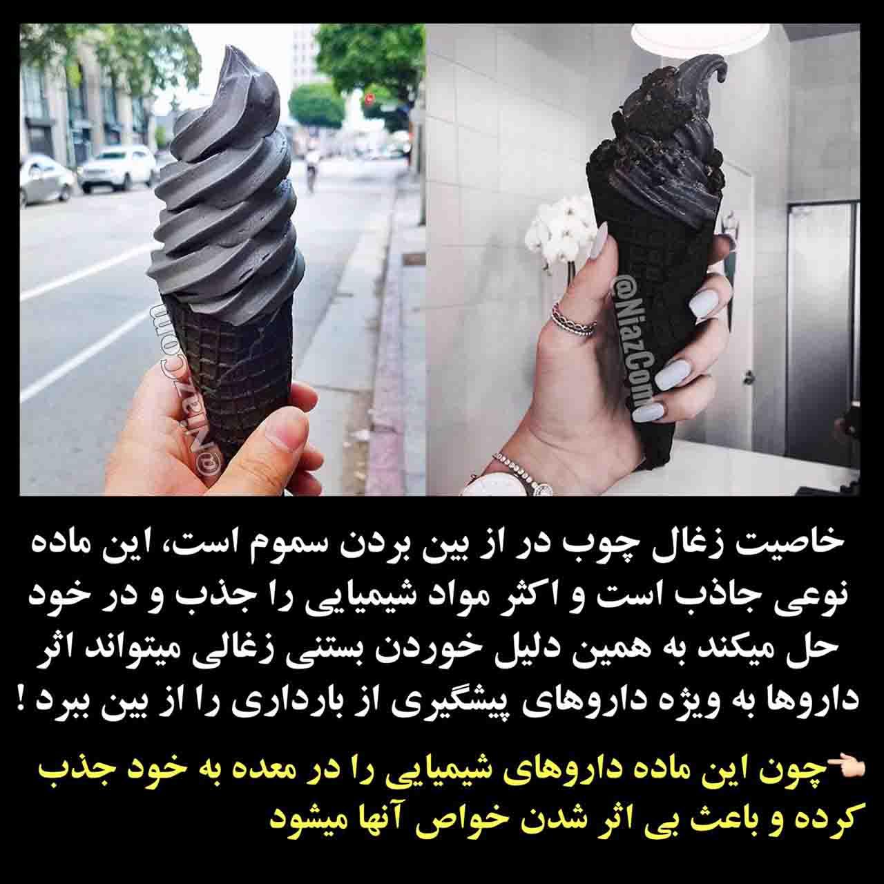 عوارض بستنی زغالی