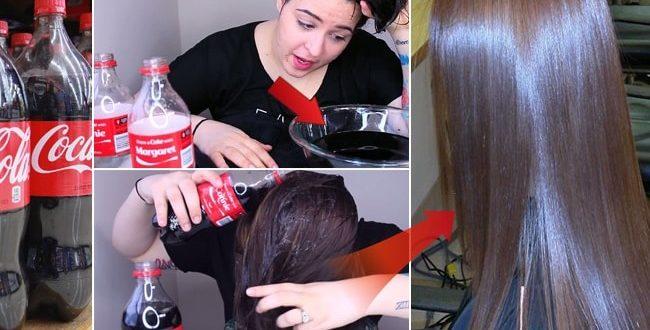 صاف کردن مو با نوشابه