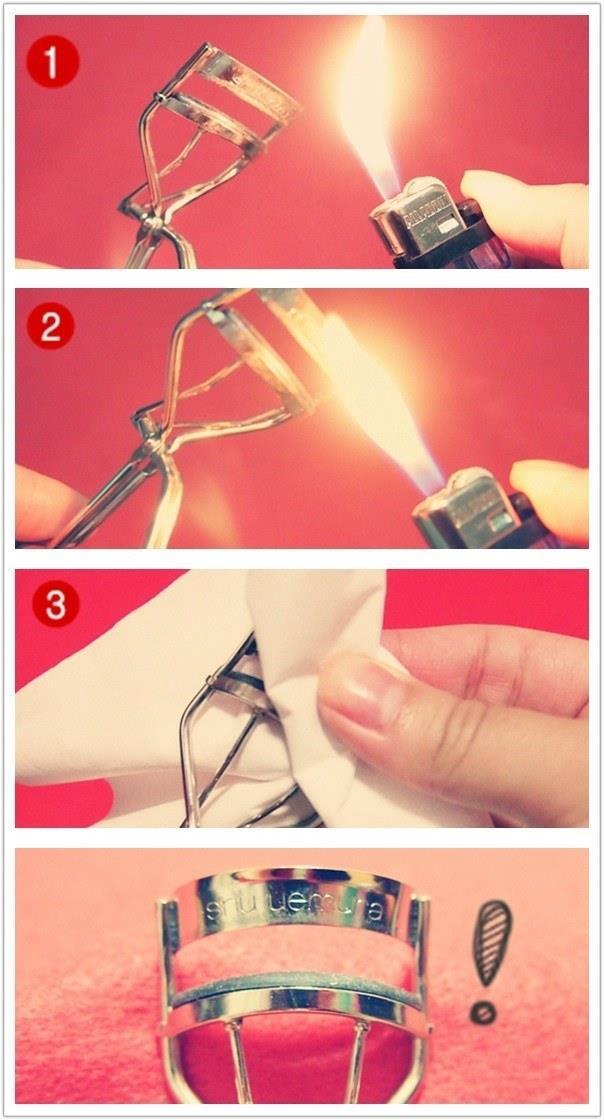تمیز کردن فرمژه با فندک
