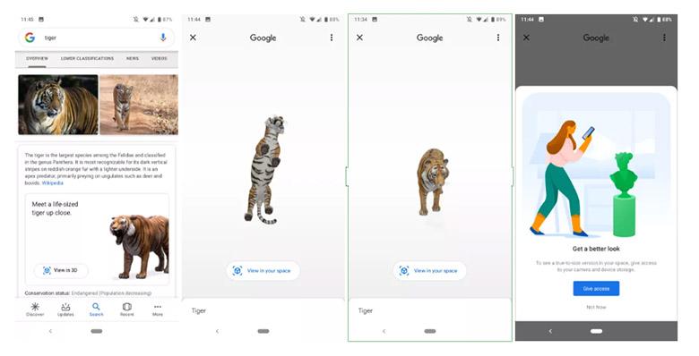 قابلیت جدید ۳D گوگل