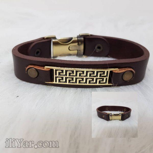 دستبند چرم طرح ورساچه شیک
